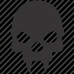 dead, evil, halloween, skull, vampire icon
