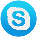 basic, blue, circle, logo, macos, round, shape, skype, skypeflat icon