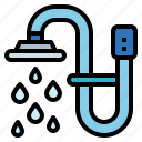 bathroom, hygiene, shower, water icon