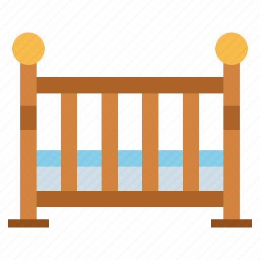 baby, bed, cradle, crib, furniture icon