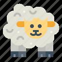 animals, farming, mammals, sheep icon