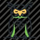 bird, owl, sleep, wisdom icon