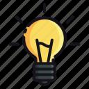 bulb, night, rest, sleep, sleeping icon