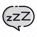 dream, night, rest, sleep, sleeping icon