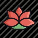 lotus, night, rest, sleep, sleeping icon