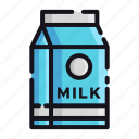 milk, night, rest, sleep, sleeping icon