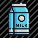 milk, night, rest, sleep, sleeping icon