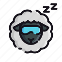 night, rest, sheep, sleep, sleeping icon