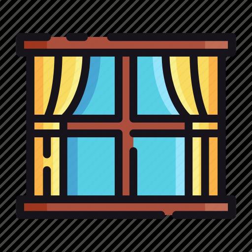 night, rest, sleep, sleeping, window icon