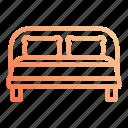 bed, double, night, rest, sleep, sleeping icon