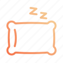 night, pillow, rest, sleep, sleeping icon