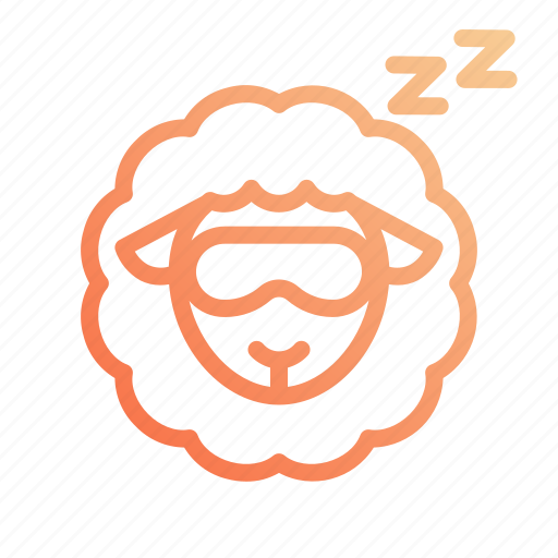 night, rest, sheep, sleep, sleeping icon