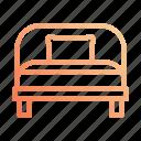 bed, night, rest, single, sleep, sleeping icon