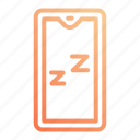 night, off, rest, sleep, sleeping, turn icon