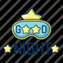 object, good, sleep, logo, dream, night, cartoon icon