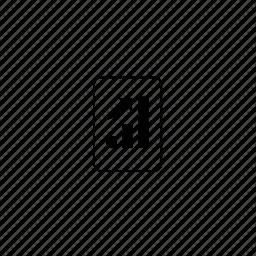 chart, slim icon
