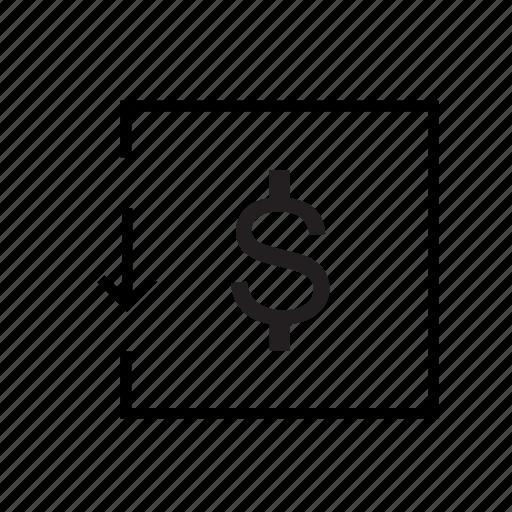 drop, ecommerce, price drop icon