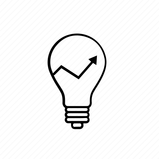 light bulb, marketing, smart, think icon