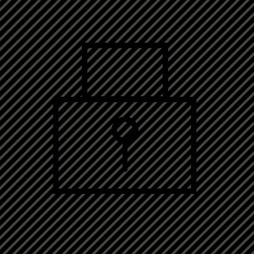 lock, safe, web icon