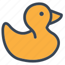 baby, bath, boy, duck, ducktoy, girl, toy icon