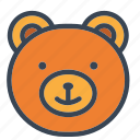 bear, boy, christmas, girls, kids, teddy, toy icon icon