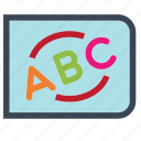 abc, baby, board, boy, girl, kid, toyicon icon