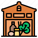 food, grocery, market, product, retail, shop, store icon