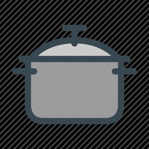 big, cooking, food, kitchen, pot icon
