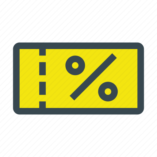 coupon, discount, percent, sale, shopping icon