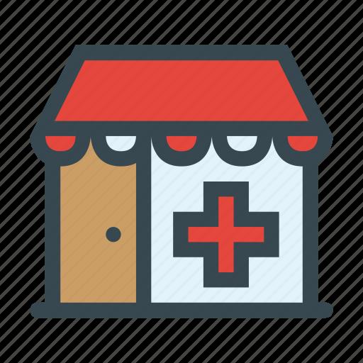 druggist, drugstore, medication, medicine, pharmaceutics, pharmacy icon