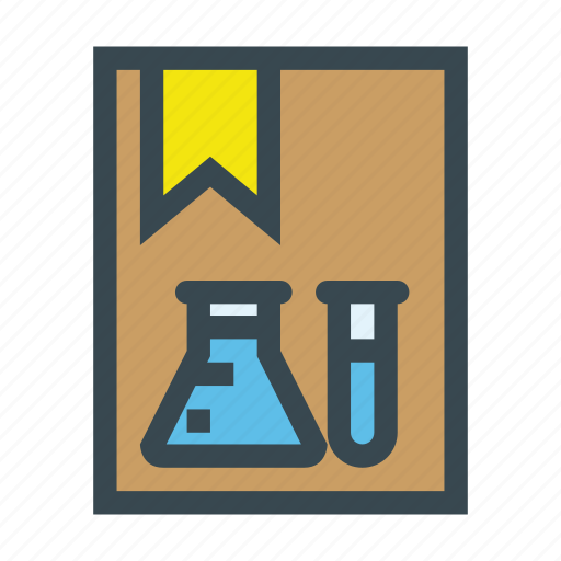 book, chemical, chemistry, education, experiment, science, scientific icon