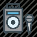 karaoke, mic, microphone, music, speaker icon