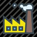business, company, enterprise, industry, smoke, steam icon