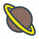 planet, saturn, science, space icon