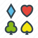 poker, spades, casino, clubs, diamonds, hearts, gamble icon
