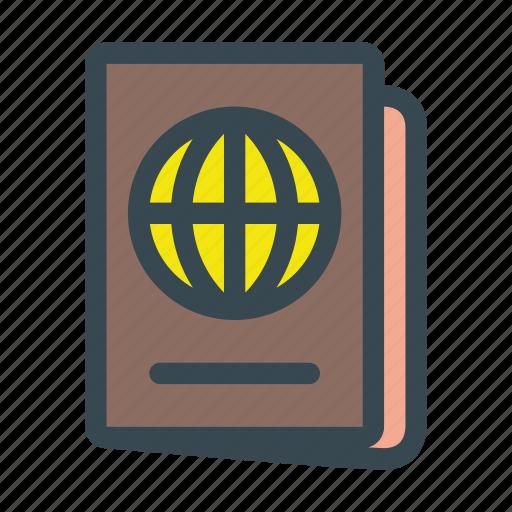 id, identification, passport, travel, visa icon