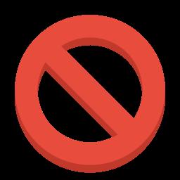 ban, sign icon