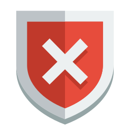 error, shield icon