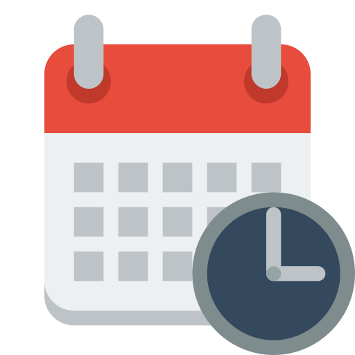 Calendar Icon Svg : Calendar clock icon