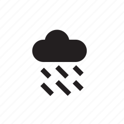 cloud, forecast, rain, raining, water, weather icon