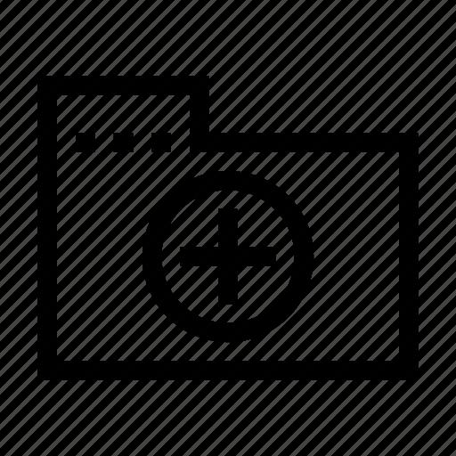 add, archive, document, file, folder, plus icon