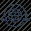 business, communication, global, international icon