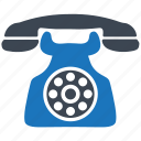 call, communication, old, phone, telephone icon