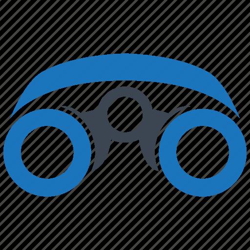 binocular, explore, looking, search, spyglass icon