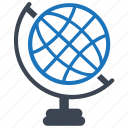 education, geography, globe, navigation, world icon