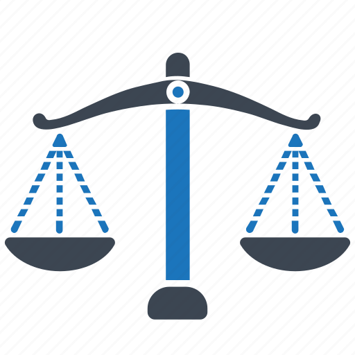 balance, choice, decision, justice, law, measure, scales icon
