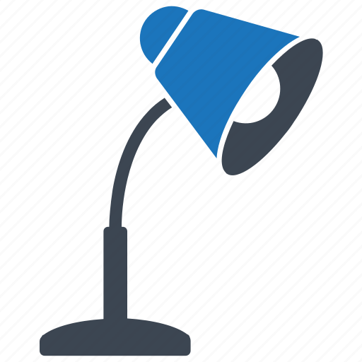 desk lamp, lamp, light, office supplies, shine icon