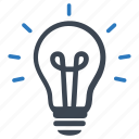 brainstorming, business idea, creative, creativity, light bulb icon