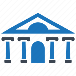 bank, building, courthouse, finance, institution icon