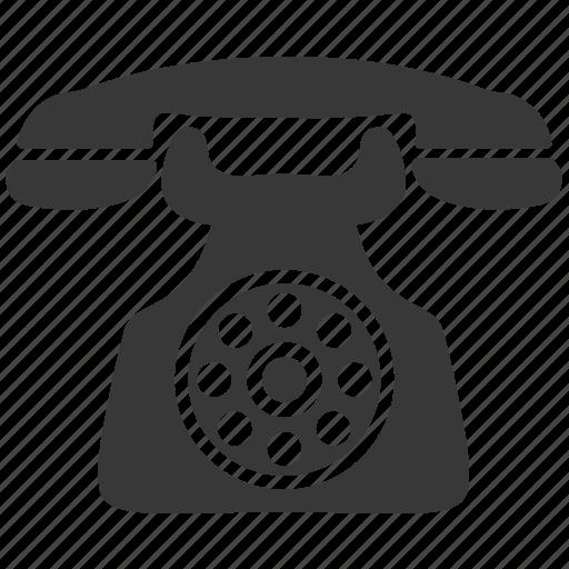 call, communication, old, phone, telephone icon